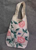 Тканевая сумка ручной работы  с вышивкой