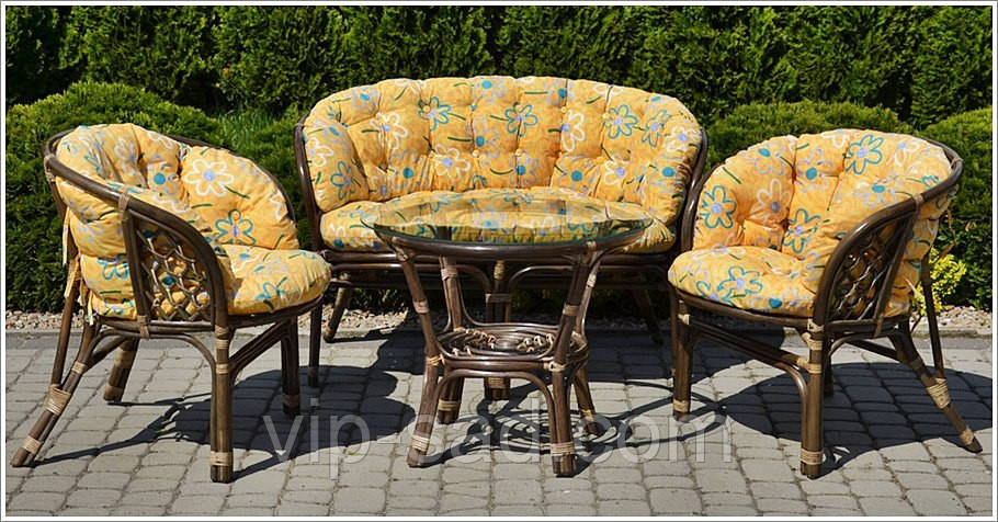 Комплект мебели Bahama -1 из натур. ротанга