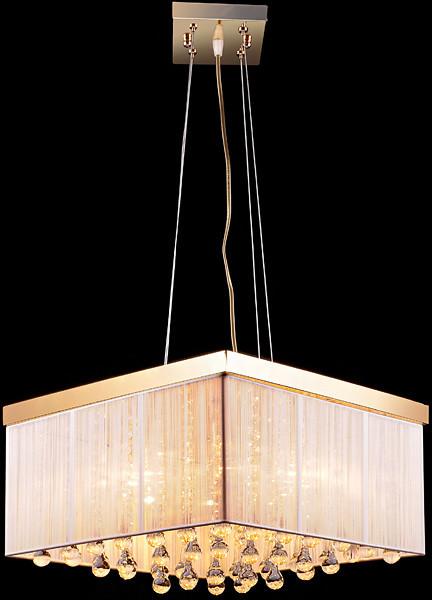 Золотистая люстра для больших комнат