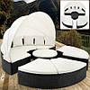 Кровать шезлонг лаунж из ротанга 230 см.