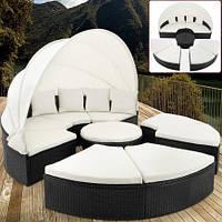 Кровать шезлонг лаунж из ротанга 230 см., фото 1
