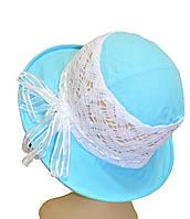 Детская шляпка Ялта бирюза