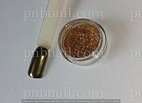 Зеркальная пудра для ногтей - темное золото , 2 гр. , фото 1