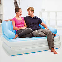 Надувная кровать диван трансформер с электро насосом 5в1 bestway 75038 188 х 152 х 64 см.