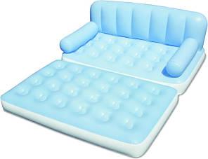 Надувная кровать диван трансформер с электро насосом 5в1 bestway 75038 188 х 152 х 64 см., фото 2