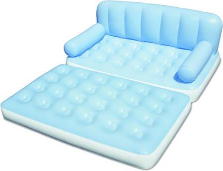 Надувная кровать диван трансформер 5в1 bestway 75039 188 х 152 х 64 см., фото 2