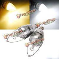 Е12 3.5 W белый/теплый белый 3 LED серебряный канделябр свечи Лампа 85-265в