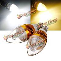 Е14 9 Вт 85-265V LED лампа в золотом корпусе