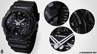 Модні наручні годинники Casio G-Shock (чорні), годинник Касіо, фото 1