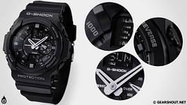 Модные наручные часы Casio G-Shock (черные), часы Касио