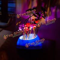 LED Свет-ночник красочные растения горшечные контролируемой индукции лампы