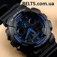 Чоловічий наручний годинник Casio G-Shock (Касіо Джі Шок) – чорно-сині