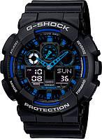 Чоловічий годинник Casio G-Shock (Касіо Джі Шок) – чорно-сині