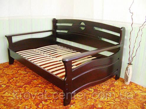 """Кровать полуторная """"Луи Дюпон - 2"""". Массив - сосна, ольха, береза, дуб., фото 2"""