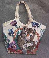 Льняная сумка ручной работы с вышивкой