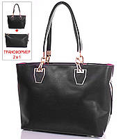 Черная женская сумка из качественного кожзаменителя ANNA&LI (АННА И ЛИ) TUP14460-2