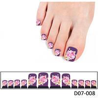 Дизайн для ногтей цветочный