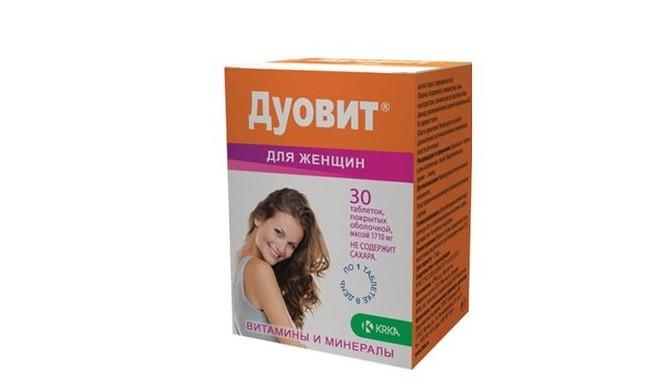 Дуовіт для жінок - Полівітаміни з мікроелементами (таб.30,KRKA,Словенія)