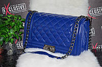 Сумка Шанель Бой синяя.