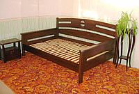 """Кровать полуторная """"Луи Дюпон"""". Массив - сосна, ольха, береза, дуб."""