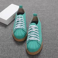 Оригінальні туфлі на шнурівці в забарвленні, фото 1