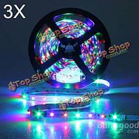 3X 5м 300LED SMD 3528 LED гибкий RGB LED полосы света Non-водоустойчивое 12V