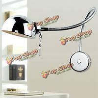 Современный поворотный кронштейн настенный светильник гибкая труба зеркальная комната спальня свет