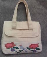 Тканевая сумка из льна ручной работы  с вышивкой