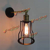 Антикварный кованого железа настенные светильники Эдисон типа лофт светильник стены
