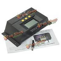 30А аккумулятора ШИМ солнечные панели контроллера заряда регулятор 12-24В