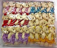 Мишка принцесса микс Белый +голубой +желтый+сиреневый+красный+розовый