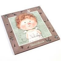 Альбом-скетчбук 0552 в твердом переплете для рисования (26*26 см, 36 листов) ТМ Гапчинская
