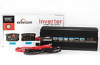 Автомобильный инвертор AC/DC 12V-220V 2000W SSK, преобразователь напряжения