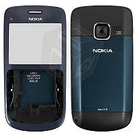 Корпус для Nokia C3-00, с клавиатурой, черный, оригинал