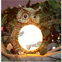 Солнечный приведенный в действие сова LED свет открытый сад декор статуя пейзаж Лампа