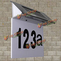 Специальные солнечных батареях LED табличка на дверях пронумерованы открытый ворот ночник