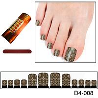 Узор на ногти на коричневом
