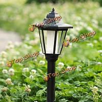 Солнечный приведенный в действие светильник шестигранной головкой LED газона сад лампы свет ландшафтный свет