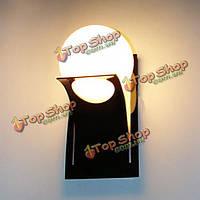 Краткая современный круглый шар стеклянная лестница балкон настенный светильник спальня лампы