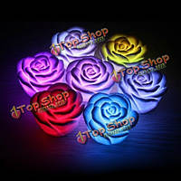 Романтические красочные градиент Роуз фонарь LED ночник свеча Лампа