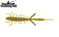 Сьедобный силикон Fishing ROI Shaggi Grub 80mm D057