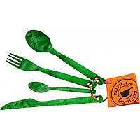 Набор столовых приборов Kupilka Cutlery Set green (0025G)