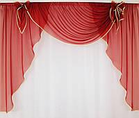 Шифонові штори для кухні, фото 1