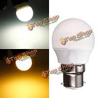 В22 3W теплый белый/белый АС 220В 8 СМД 2835 LED электрическая лампочка глобуса