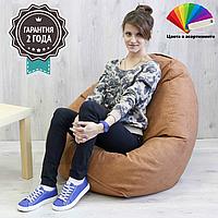 Кресло мешок Груша SanchoBag M 110x80 см (ткань: велюр), фото 1