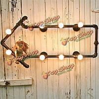 Винтаж 8 шт лампочки Эдисона стиль водопровод книжные полки настенные светильники