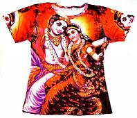 Футболка жіноча Радха і Кришна (кольорова)