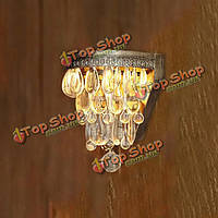 Художественный кристалл бисера подвески настенный светильник со светлым основанием 220В
