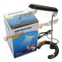 10 LED гибкая USB настольная лампа для чтения черный стол ПК ноутбук DC 5В