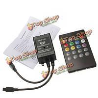 20 ключевые музыку ИК датчик пульт дистанционного управления для 3528 5050 RGB LED прокладки